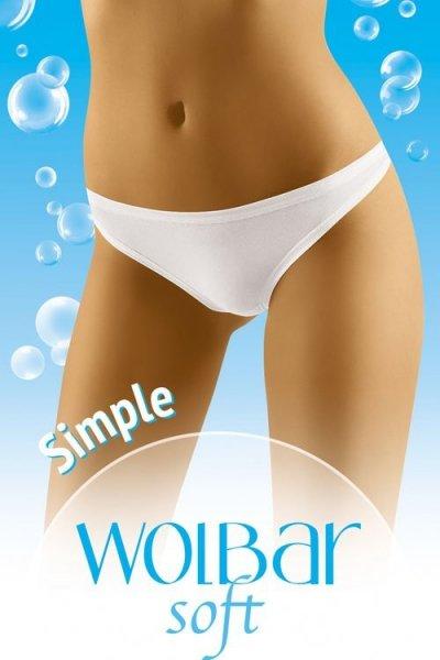 Wol-Bar Soft Simple Tanga M bílá