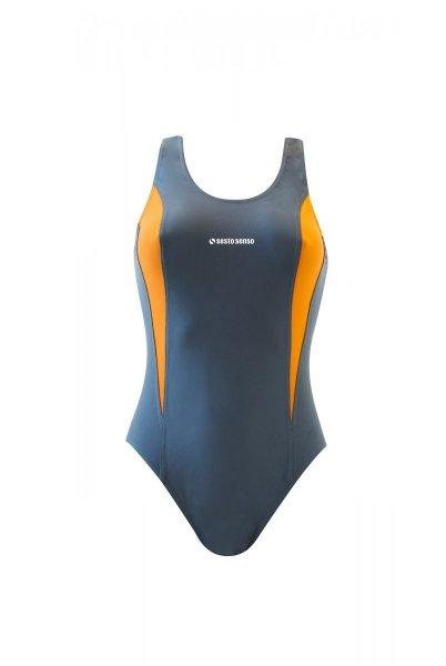 Sesto Senso BD 730 grafitový Dámské plavky XXL grafitovo (tmavě šedá) - oranžová