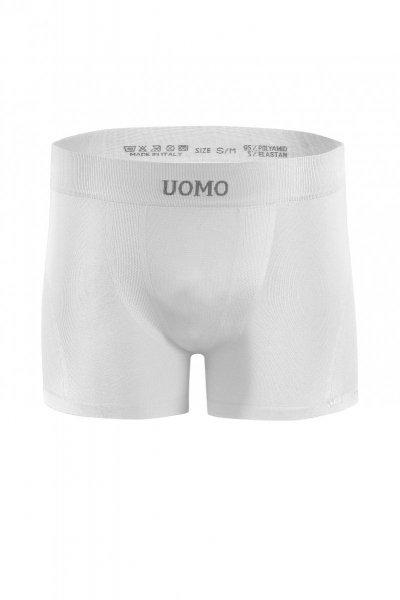 Sesto Senso Solar bílé Pánské boxerky bezešvé L/XL bílá