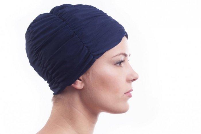 Plavecká čepice Shepa Turban Mono (B2) One size tmavě modrá