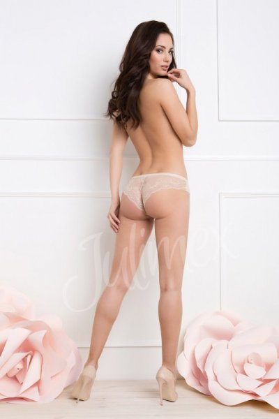 Julimex Tanga Panty Kalhotky M bílá