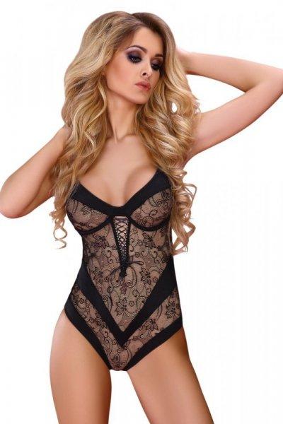 LivCo CORSETTI Erotické body Zankhana L/XL černá