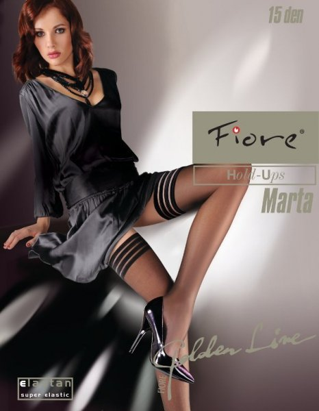 Fiore Marta Punčochy 4-L ecru