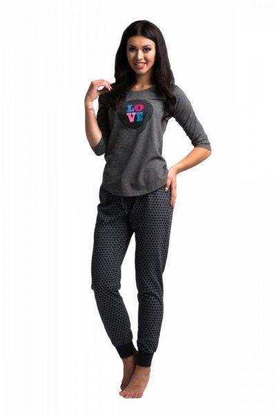 Rossli SAL-PY 1024 dámské pyžamo šedá S grafit
