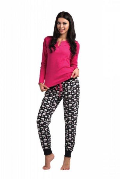 Rossli SAL-PY-1030 dámské pyžamo růžovo-černá S růžovo-černá
