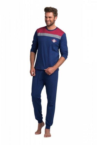 Rossli pánské pyžamo dlouhé modročervené XXL tmavě modrá