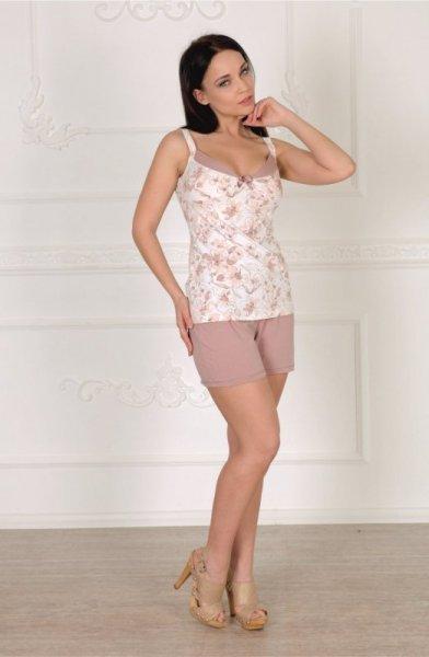 Roksana Estelle 559 Dámské pyžamo XXL ecru s růžovou