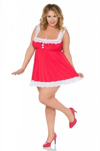 Andalea SB/X03 Košilka Vánoční Kostým 38/40 červeno-bílá