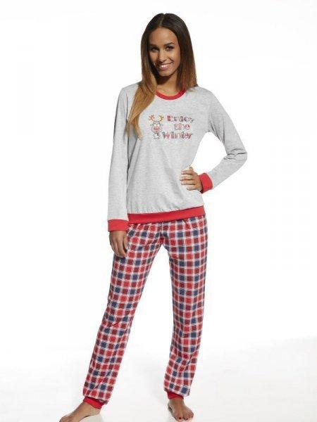 Cornette Winter 671/122 Dámské pyžamo XL šedo-červená