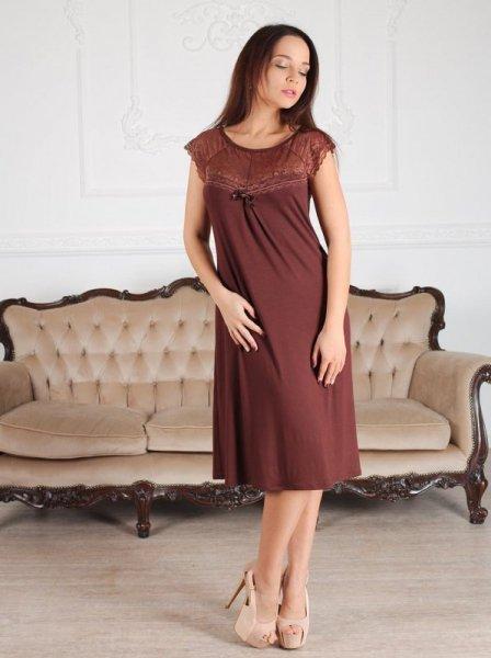 Roksana Linda 539 Burgundy (Bordo) Noční košilka L bordo