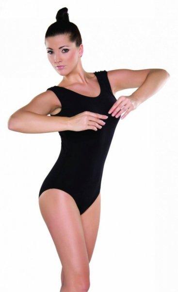 Gymnastický dres (B1) bez rukávů Shepa 42 černá