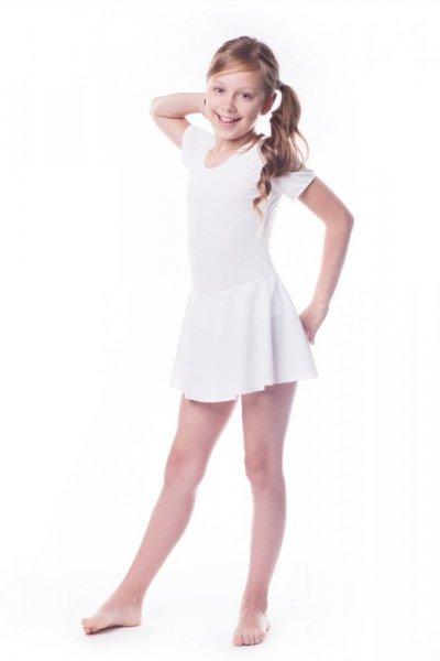 Gymnastický dres se sukní (B7) Shepa 158 bílá