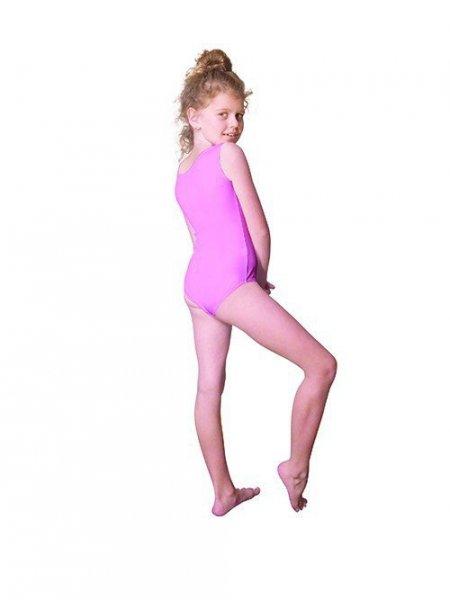 Gymnastický dres Body lycra (B9) bez rukávů Shepa 158 růžová