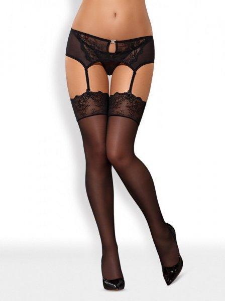 Punčochy Merossa stockings - Obsessive S/M černá