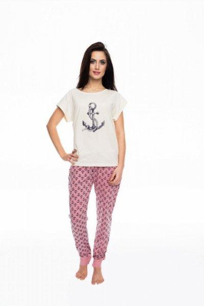 Rossli SAL-PY-1061 Dámské pyžamo S béžovo-růžová