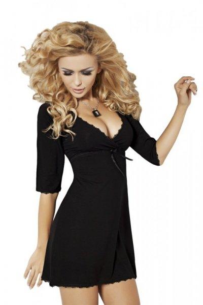 DKaren Magnolia noční košilka black černá XL černá