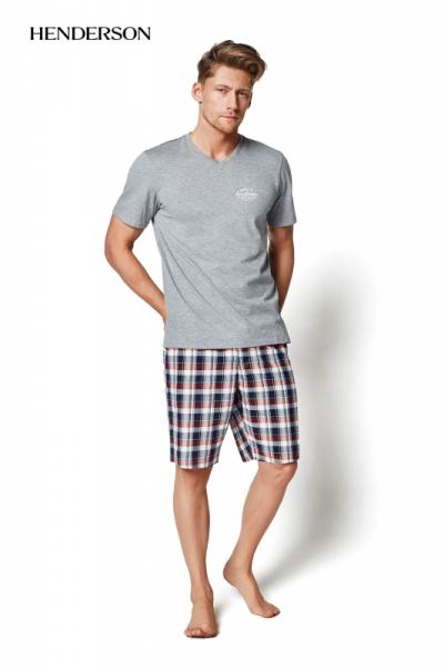Henderson Mash 35007-90X šedé Pánské pyžamo XXL šedá (90)