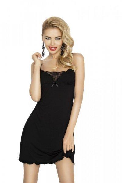DKaren Kalina dámská noční košilka black černá XL černá