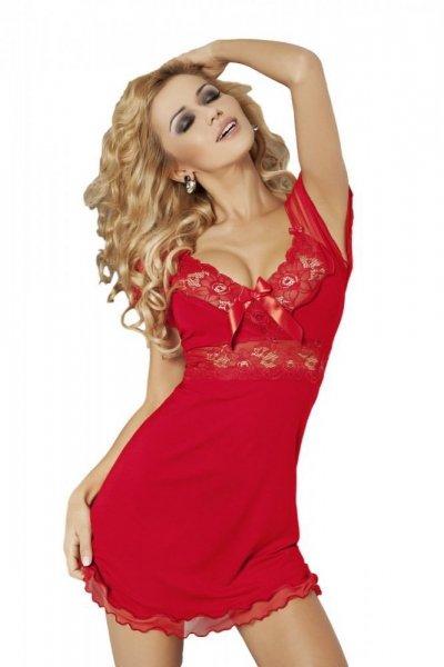 DKaren Paulina dámská košilka red červená XXL červená