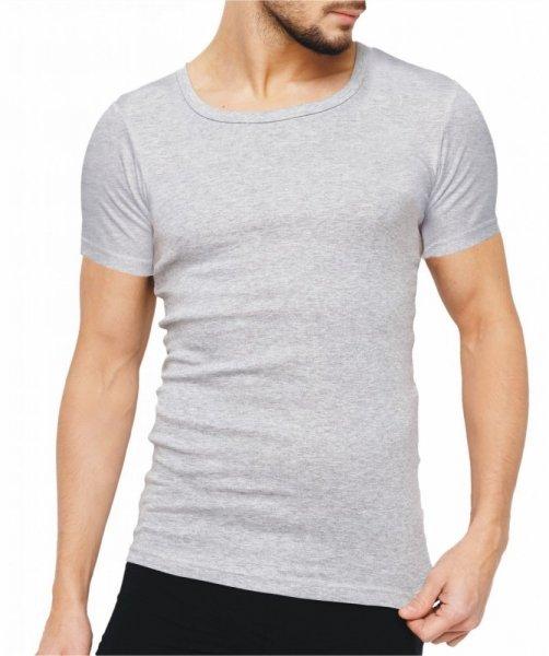 Rossli MTP-001 šedý Pánské triko XXL šedá melír