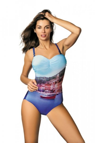 Marko Dámské plavky Valentina M-439 Royal Blue 4XL modro-blankytná