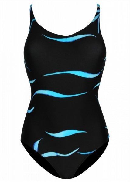 Shepa 078 Dámské jednodílné plavky (B1D93) 48 černo-modrá