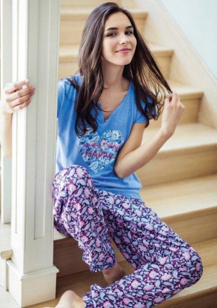 Key Amanda LHS 586 Dámské pyžamo XL tmavě modrá