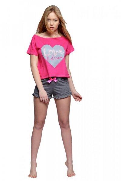 975ef5fc97a2 Sensis Sanne Dámské pyžamo XL růžovo-grafitová (tmavě šedá)