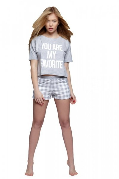 Sensis Brooke Dámské pyžamo XL šedo-bílá