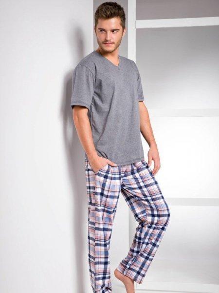 Taro Adam 1073 SS/17 K1 Šedé Pánské pyžamo XL šedá