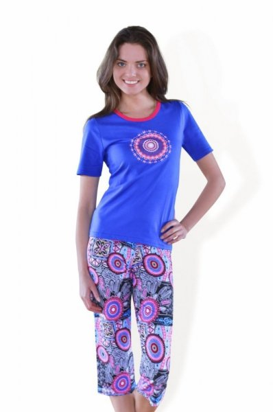 Sesto Senso Nisha Dámské pyžamo XL chrpová/růžová