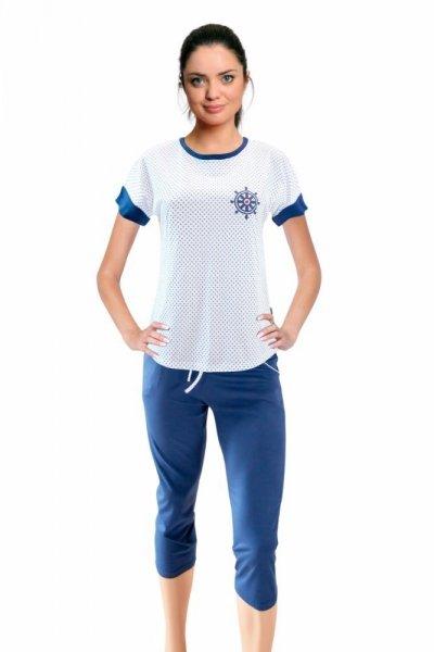 Sesto Senso Valentyna Dámské pyžamo XXL bílá/jeans