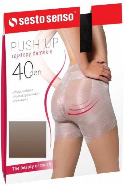 Sesto Senso Push Up 40 DEN Punčochové kalhoty 3 Daino(béžová)