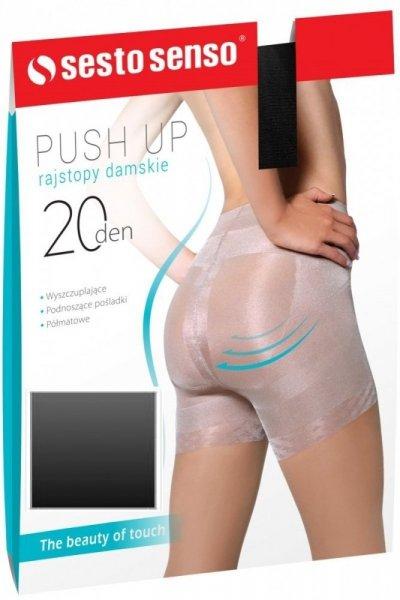 Sesto Senso Push Up 20 DEN Punčochové kalhoty 4 Antilope(světle béžová)