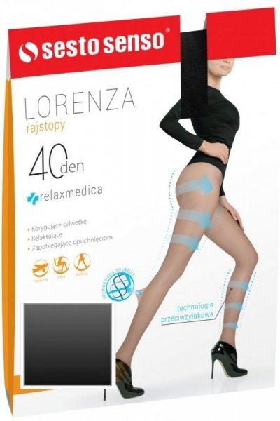 Sesto Senso Lorenza 40 DEN Punčochové kalhoty 1/2 Nero