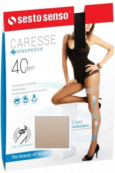 Sesto Senso Caresse 40 DEN Punčochové kalhoty 1/2 Daino(béžová)