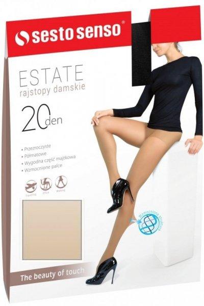 Sesto Senso Estate XL 20 DEN Punčochové kalhoty XL Antilope(světle béžová)