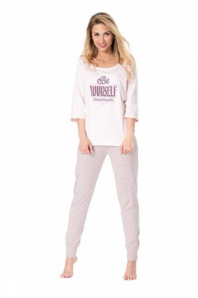 Dámské pyžamo Rossli SAL-PY-1074 XL Růžový/vzor