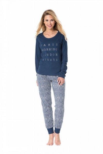 Pyžamo Rossli SAL-PY 1076 L tmavě modrá/vzor