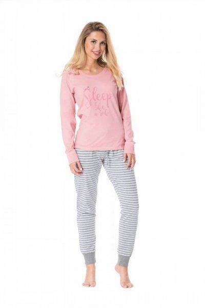 Pyžamo Rossli SAL-PY 1078 XL růžovo-šedá