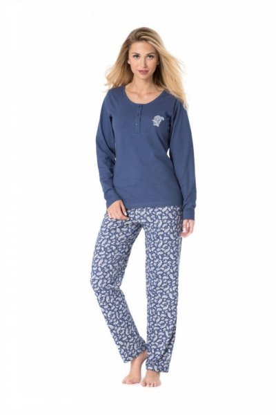 Dámské pyžamo Rossli SAL-PY-1079 XL modrá/vzor