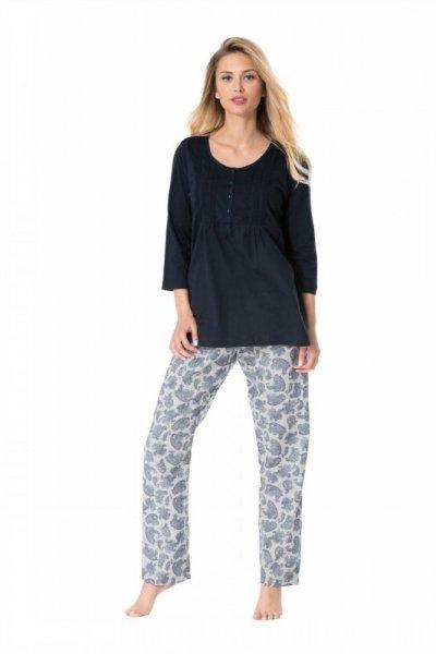 Pyžamo Rossli SAL-PY 1084 XL tmavě modrá/vzor