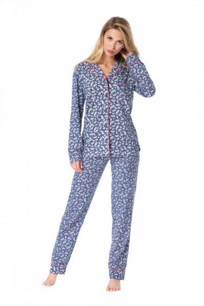 Dámské pyžamo Rossli SAL-PY-1085 L modrá/vzor