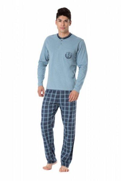 Pánské pyžamo Rossli SAM-PY-097 XXL modrá/vzor