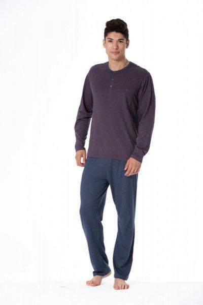 Rossli SAM-PY-102 Pánské pyžamo XXL tmavě modrá/proužky
