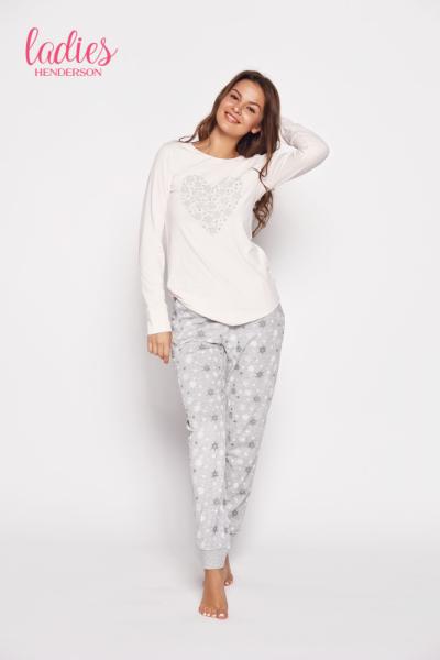 Esotiq Gioia 35599-03x Růžovo-šedé Dámské pyžamo M růžovo-šedá