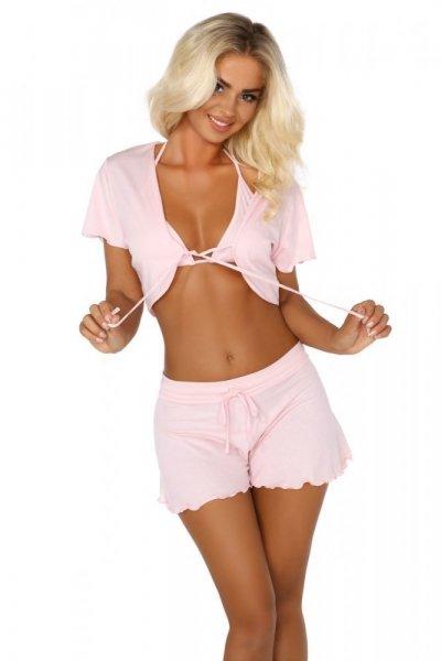 Beauty Night Fashion Dámská souprava BEAUTY NIGHT Gloria růžová L/XL světle růžová
