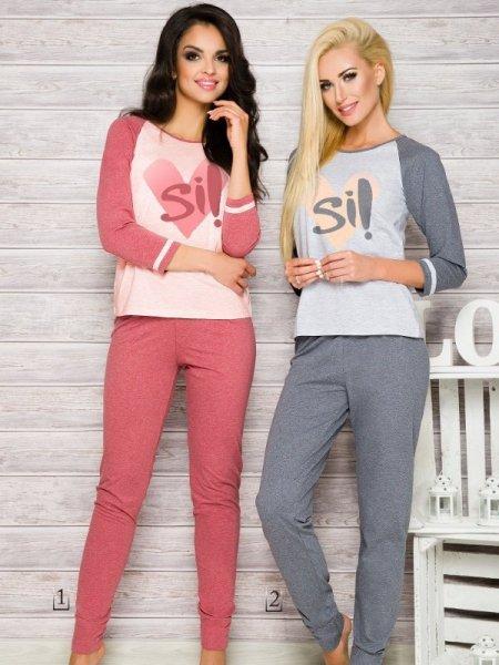 Taro Hana 2118 AW/17 K1 Růžové Dámské pyžamo M růžová