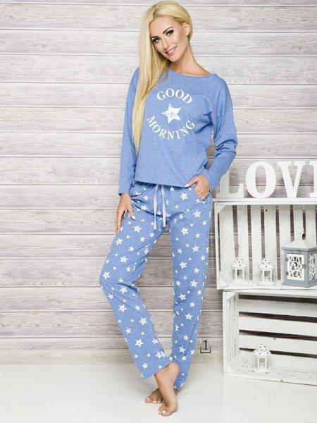 Taro Nadia 1190 K1 Modré Dámské pyžamo M modrá