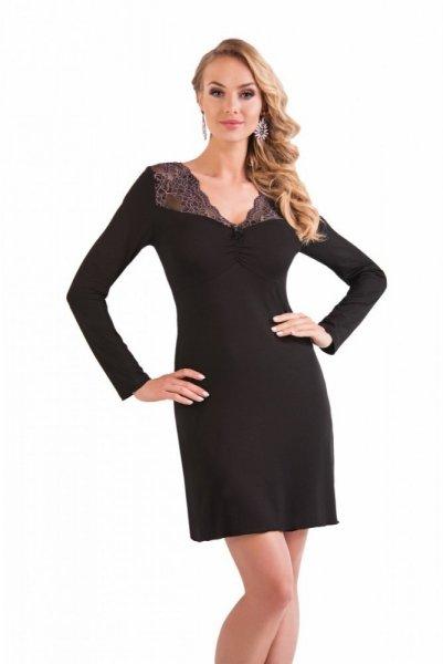 Donna Mery noční košilka dl. r. black černá XXL černá